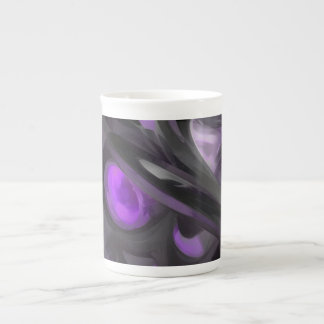 Violaceous Pastel Abstract Tea Cup