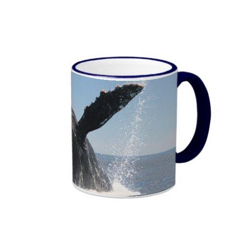 Violación adulta de la ballena jorobada tazas de café