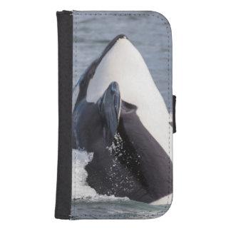 Violación de la ballena de la orca fundas tipo billetera para galaxy s4