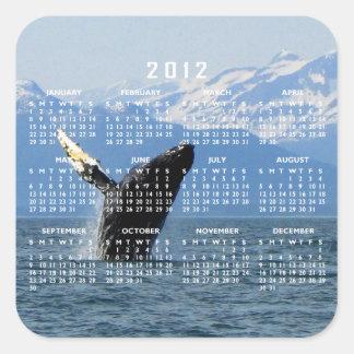 Violación de la ballena jorobada; Calendario 2012 Colcomanias Cuadradas Personalizadas