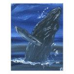 Violación de la ballena jorobada membrete personalizado