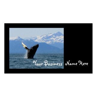 Violación de la ballena jorobada tarjetas de visita