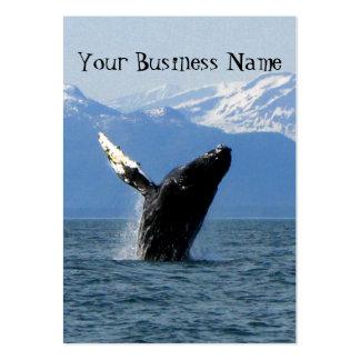 Violación de la ballena jorobada tarjetas de visita grandes