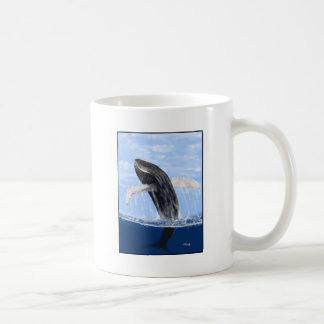 Violación de la ballena taza básica blanca