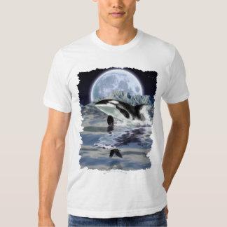 VIOLACIÓN de la camiseta de la ORCA y de la LUNA Playeras