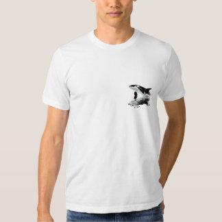 VIOLACIÓN de la camiseta de la pintura de la ORCA Remera