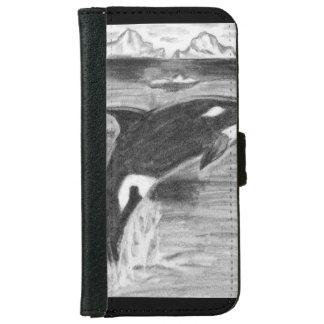 Violación de la orca funda cartera para iPhone 6