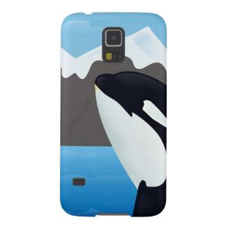Violación de la orca y de las montañas carcasas de galaxy s5