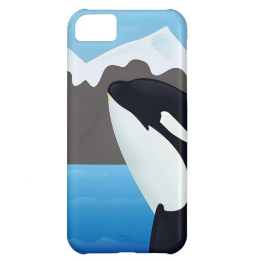 Violación de la orca y de las montañas funda para iPhone 5C