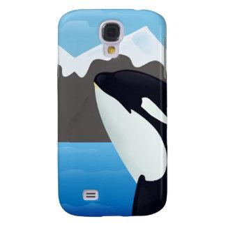 Violación de la orca y de las montañas funda para galaxy s4