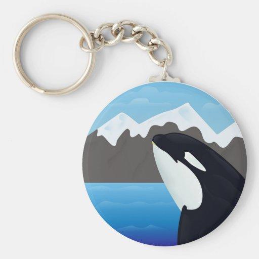 Violación de la orca y de las montañas llavero