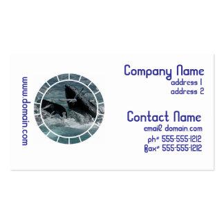 Violación de tarjetas de visita de la ballena joro