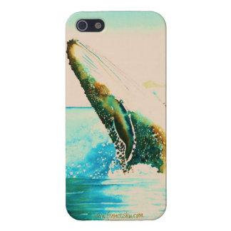 Violación del caso de Iphone de la ballena jorobad iPhone 5 Funda