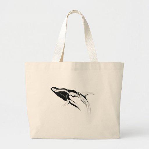 Violación del dibujo de la ballena jorobada bolsas de mano