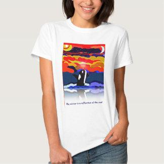 violación para los regalos del diseño de la orca camisas