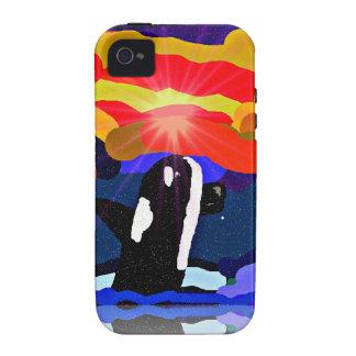 violación para los regalos del diseño de la orca d iPhone 4 funda