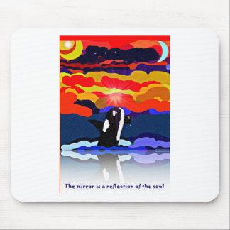 violación para los regalos del diseño de la orca d tapete de ratón