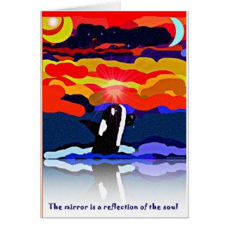 violación para los regalos del diseño de la orca d tarjeta de felicitación