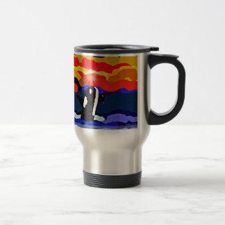 violación para los regalos del diseño de la orca taza térmica