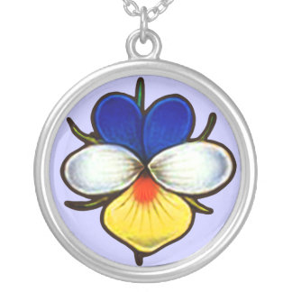 Violas Are A Little Blue Silver Plated Necklace