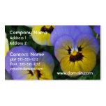 Violas azules y amarillas plantilla de tarjeta de negocio
