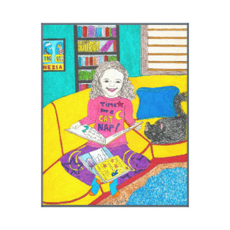 Viola's Favourite Books, art on canvas