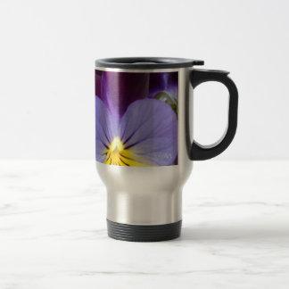 violas púrpuras amarillas azules 7a tazas