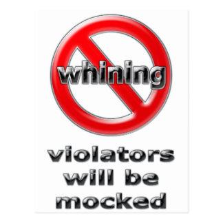 Violators will be Mocked Postcard