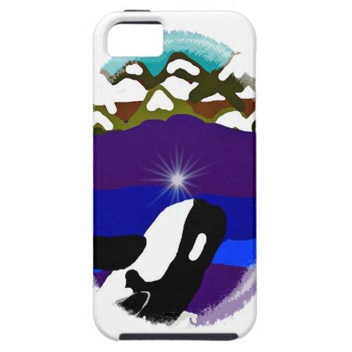 Viole a las montañas la orca iPhone 5 Case-Mate carcasa