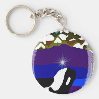 Viole a las montañas la orca llavero redondo tipo pin