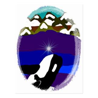 Viole a las montañas la orca tarjeta postal