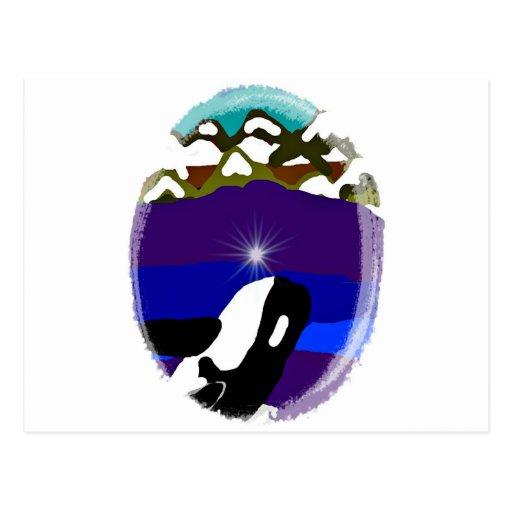 Viole a las montañas la orca tarjetas postales