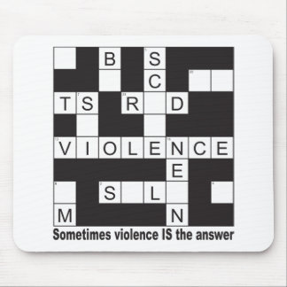 Violence Crossword Mousepad