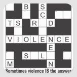 Violence Crossword Stickers