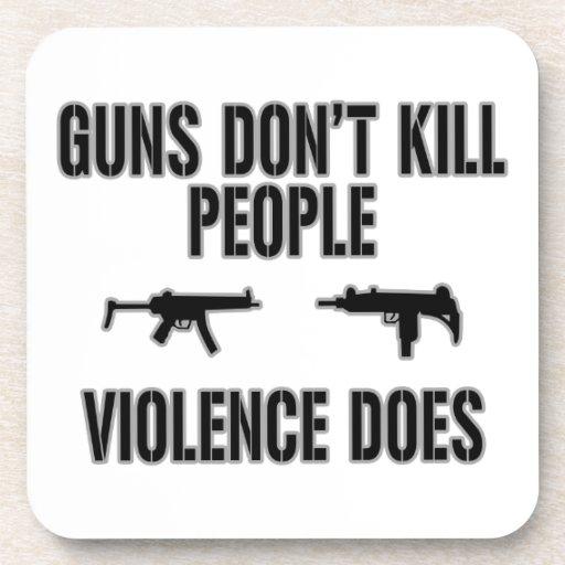 Violence Kills Beverage Coasters
