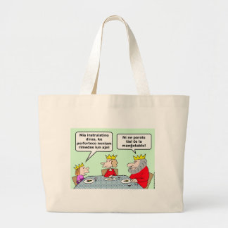 violence never solves king esperanto tote bag