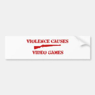 Violence Red Bumper Sticker