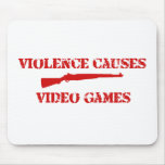 Violence Red Mouse Pads