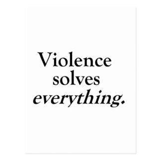 VIOLENCE SOLVES EVERYTHING POSTCARD