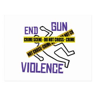 Violencia armada del final postales