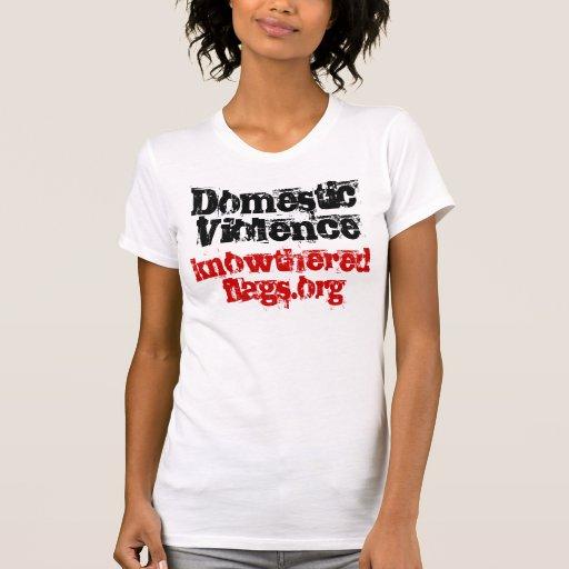 Violencia en el hogar camiseta