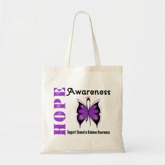 Violencia en el hogar de la mariposa de la concien bolsas lienzo
