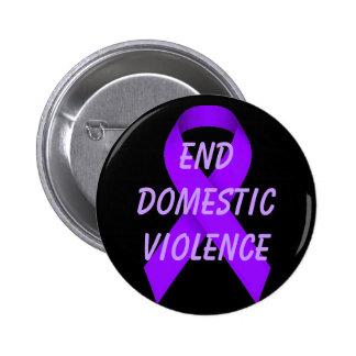 Violencia en el hogar del final pin redondo 5 cm