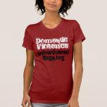 Violencia en el hogar, knowtheredflags.org camiseta