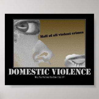 Violencia en el hogar póster