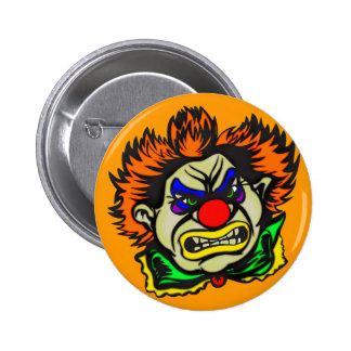 Violent Evil Clown 2 Inch Round Button