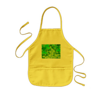 Violent Green Abstract Kids' Apron