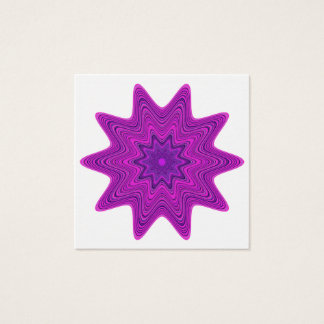 Violet abstract star square business card
