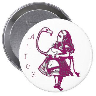 Violet Alice in Wonderland Button