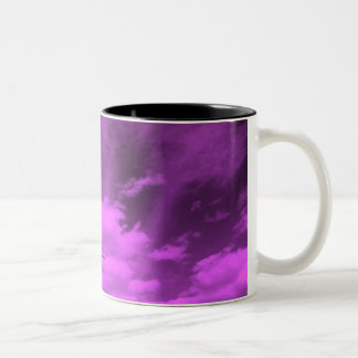 VIOLET ALIEN SKY Two-Tone COFFEE MUG